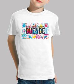 Duende camiseta infantil fondo blanco