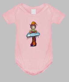 Duende para bebé fondo rosa