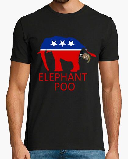 Camiseta dump trump - caca de elefante