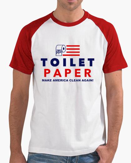 Camiseta dump trump - papel higiénico