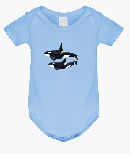 Vêtements enfant duo orca (orcinus orca) boisson corps