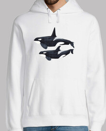 duo orca (orcinus orca) jersey