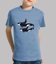 duo orque (orcinus orca) enfant shirt