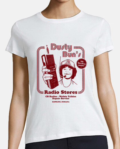 dusty buns radio stores womens t-shirt