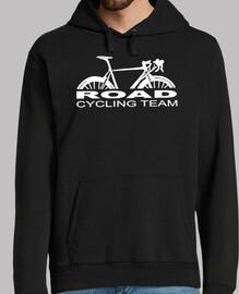 équipe de cyclisme sur route blanc