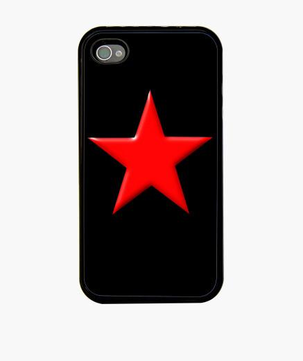 Coque iPhone étoile rouge
