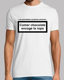eat chocolate shrinks clothing