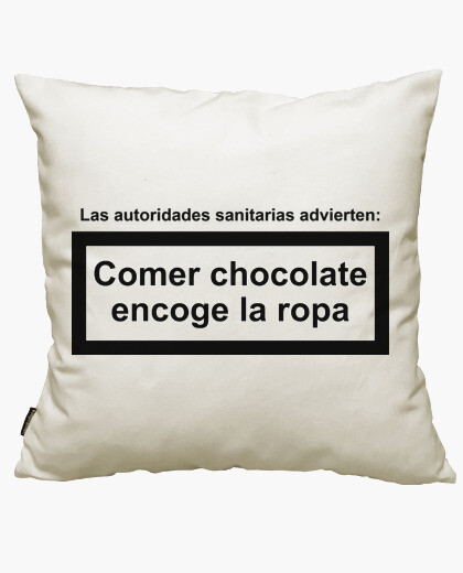 Eat chocolate shrinks clothing cushion cover