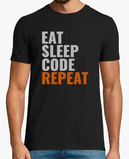 Tee-shirt eat code de sommeil répéter style masculin 2