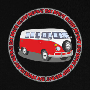 Camisetas Eat, drive, sleep, repeat vanlive vw