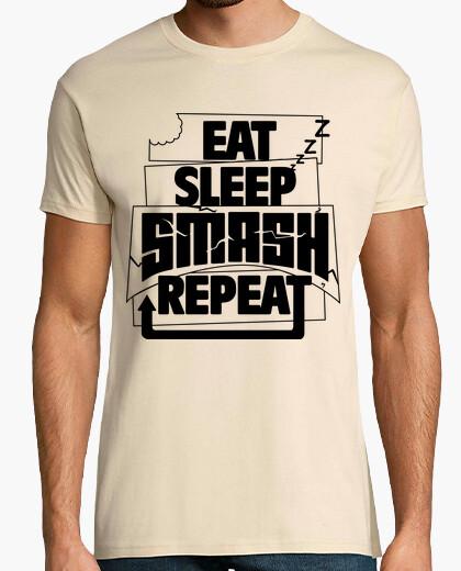 Tee-shirt eat festival de répétition rave du sommeil