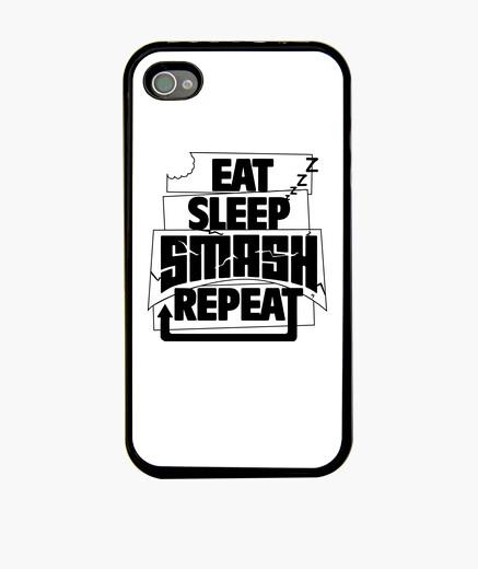 Coque iPhone eat répétition smash sommeil