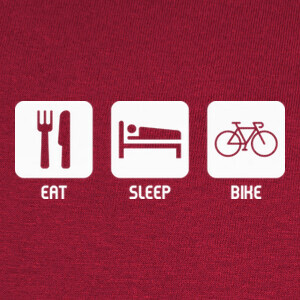 Eat, Sleep, Bike T-shirts