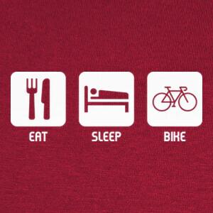 Tee-shirts Eat, Sleep, Bike