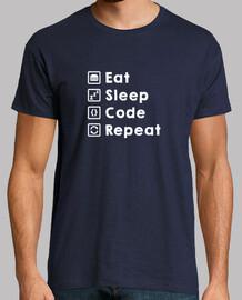 Eat Sleep Code Repeat light
