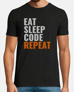 Eat Sleep Code Repeat Male Style 2