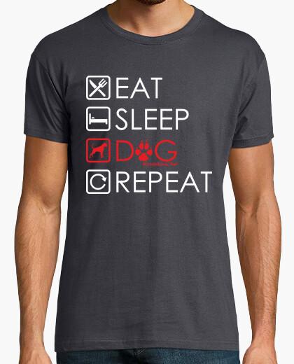 Camiseta Eat, Sleep, Dog