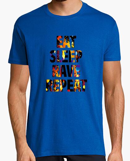 Camiseta eat sleep rave repeat