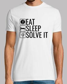 EAT SLEEP SOLVE IT - Rubik Cube