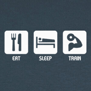 Tee-shirts Eat, Sleep, Train