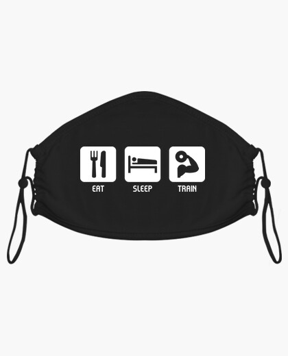 Eat sleep train mask