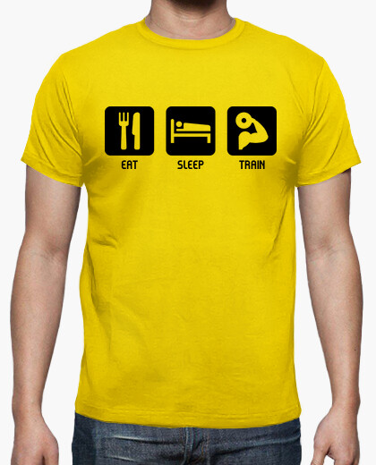 Eat, sleep, train t-shirt