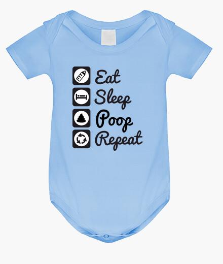 Vêtements enfant Eat,sleep,poop,repeat bébé