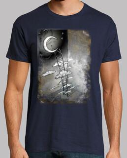 échelle pour la lune  homme