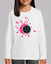 éclaboussure de handball rose