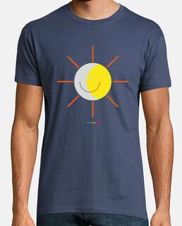 eclipse - sole e luna - camicia da uomo