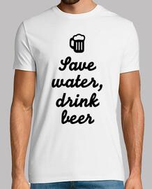 économise l'eau, bois de la bière