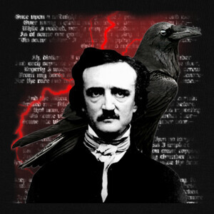 Tee-shirts Edgar Allan Poe Red Crow