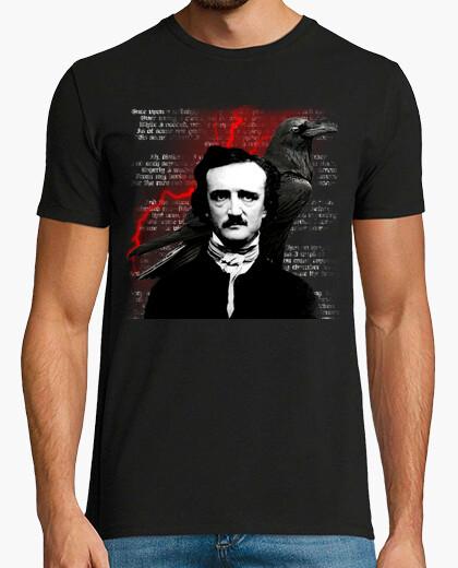 Edgar allan poe red crow t-shirt