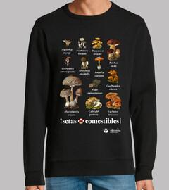 edible mushrooms (dark backgrounds)