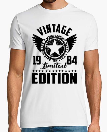Camiseta edición limitada 1984 del vintage