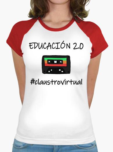 Camiseta educación 2.0 negro