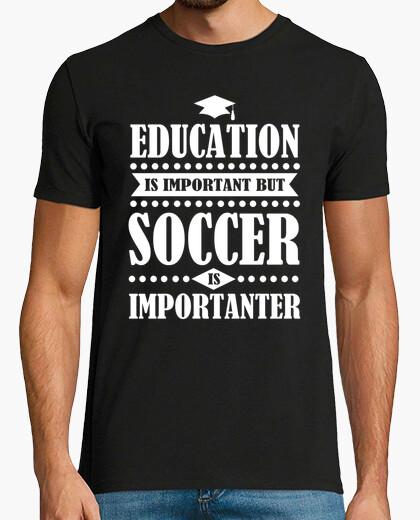 88c41da0c72 education is important but soccer is imp T-shirt - 1596887 | Tostadora.com