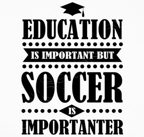 736acc89595 education is important but soccer is imp T-shirt - 1596886 ...