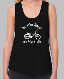 efedefunko © AntiBikersBike (RudeShirts) - Mujer, tirantes anchos & Loose Fit, negra