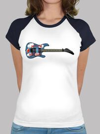 efedefunko © ArmTheHomeless Guitar , Tom Morello R.A.T.M. - Mujer, estilo béisbol, blanca y azul roy