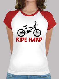efedefunko © BMX RideHard - Mujer, estilo béisbol, blanca y roja