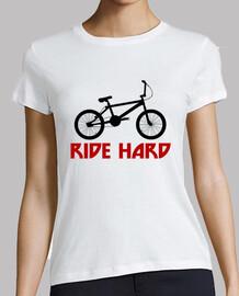 efedefunko © BMX RideHard - Mujer, manga corta, blanca, calidad premium