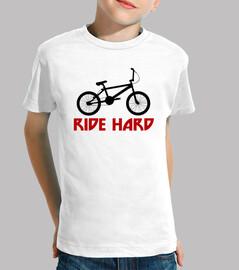 efedefunko © BMX RideHard - Niño, manga corta, blanco