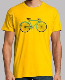 efedefunko © Gimson Esbelta Green 60´s - Hombre, manga corta, amarillo mostaza, calidad extra