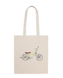 efedefunko © low rider custom crème - 100 coton sac à bandoulière