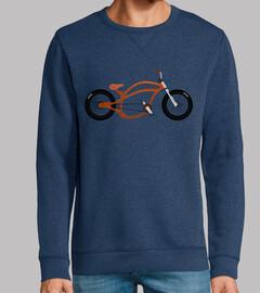 efedefunko © Orange Chopper - Hombre, sudadera, azul royal