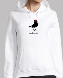 efedefunko © Original Logo - Mujer, jersey con capucha, blanco
