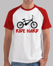 efedefunko © ridehard bmx - homme, le style de base-ball, blanc et rouge