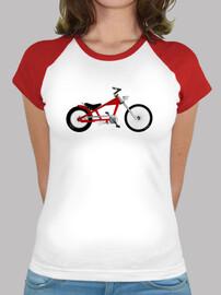 efedefunko © Schwinn Stingray Red Chopper - Mujer, estilo béisbol, blanca y roja