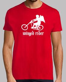 efedefunko © WingedRider (RudeShirts) - Hombre, estilo retro, roja y blanca